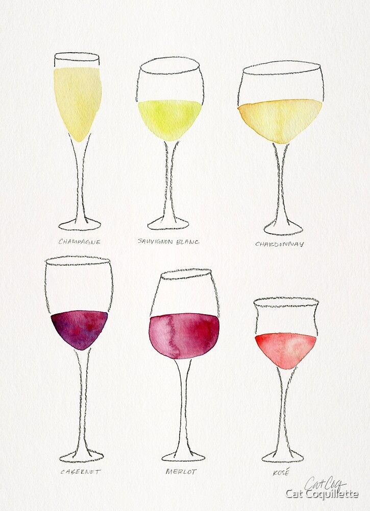 Wine Collection by Cat Coquillette