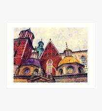 Wawel Cracow watercolor Art Print