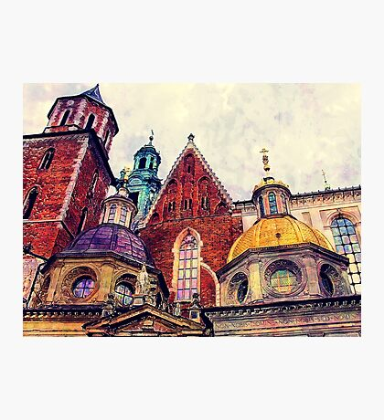 Wawel Cracow watercolor Photographic Print