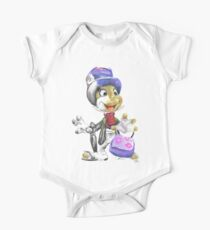 Charcoal and Oil - Jiminy Cricket One Piece - Short Sleeve