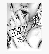 Kehlani tsunami mob pencil drawing / art Photographic Print