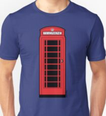 British Red Phone Box Unisex T-Shirt
