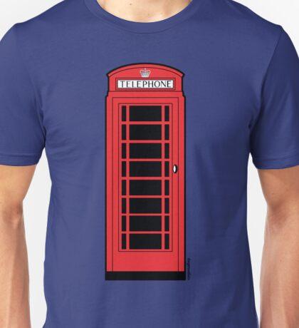British Red Phone Box Unisex T-Shirt