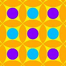 "Retro 1970s Geometric Print ""Circles 2""  by Fotopia"