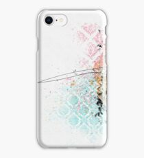 Texture with grunge and a stroke iPhone Case/Skin