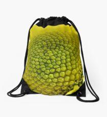 yellow daisy macro Drawstring Bag