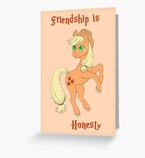 Friendship is Honesty Greeting Card