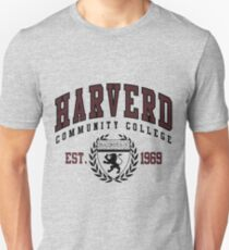 Gag Gift - Harverd Community College Unisex T-Shirt