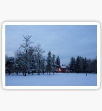 Snow, Stillness and Warm House Lights Sticker