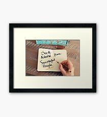 Seek Advise From Successful People Framed Print