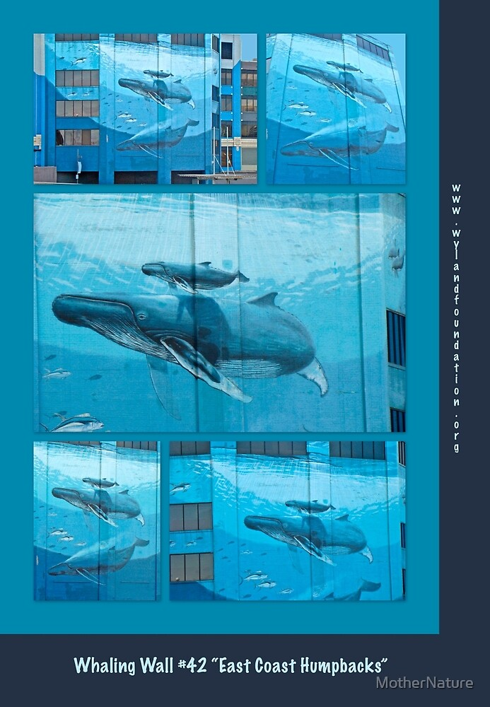 "Whaling Wall #42  ""East Coast Humpbacks"" - Original Painting by Wyland by MotherNature"