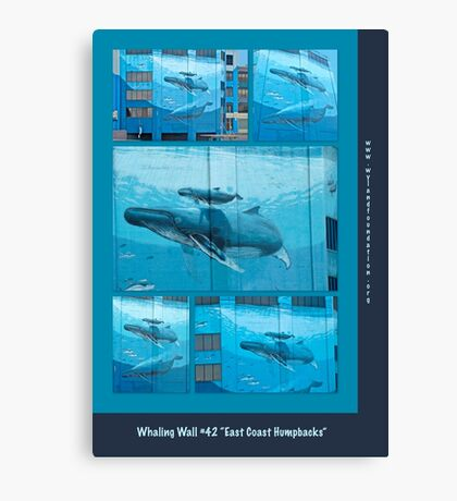 "Whaling Wall #42  ""East Coast Humpbacks"" - Original Painting by Wyland Canvas Print"