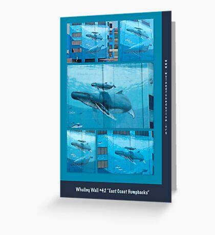 "Whaling Wall #42  ""East Coast Humpbacks"" - Original Painting by Wyland Greeting Card"