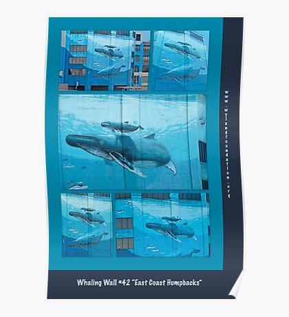 """Whaling Wall #42  """"East Coast Humpbacks"""" - Original Painting by Wyland Poster"""