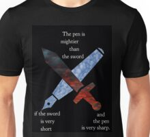 The Pen and the Sword Unisex T-Shirt