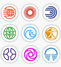 Epcot Center Pavilion Logo Stickers Sticker