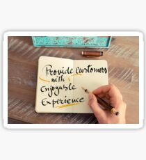 Provide Customers with Enjoyable Experience Sticker