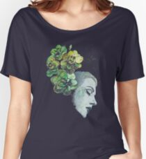 Obey Me (flower girl portrait, spray paint graffiti painting) Women's Relaxed Fit T-Shirt