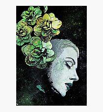 Obey Me - girl with flowers Photographic Print