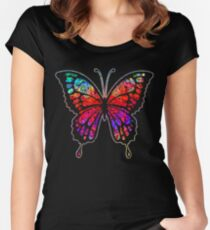 Psychedelic Butterfly Women's Fitted Scoop T-Shirt