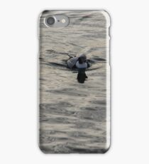 Moire Silk Water and a Long Tailed Duck iPhone Case/Skin