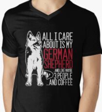 All I Care About Is My German Shepherd And Coffee Men's V-Neck T-Shirt