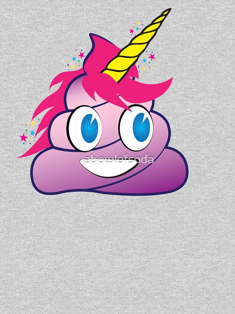 Sparkles the Unicorn Poop Emoji by abowlofsoda