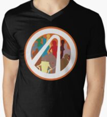 Borderlands Character Design Mens V-Neck T-Shirt