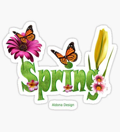 Spring text (4224 views) Sticker