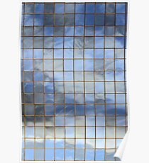 Blue & White In Windows Poster