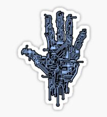 Neon Blue Circuit Sticker