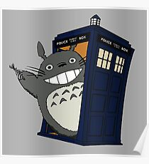 Totoro meets the tardis Poster