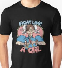 Fight Like A Girl - Chun Li (Street Fighter) T-Shirt
