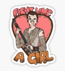 Fight Like A Scavenger (Fight Like A Girl) Sticker