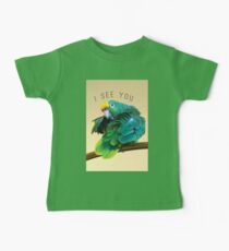 I see you. Sly Parrot Photo Baby Tee