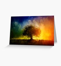 Abstract Tree Painting Greeting Card