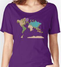 world map Women's Relaxed Fit T-Shirt