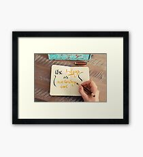 Handwritten text Use Blogs as Marketing Tools Framed Print