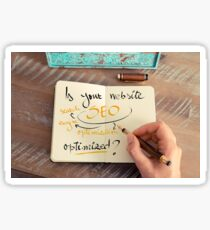Handwritten text Is your Website SEO optimized ? Sticker