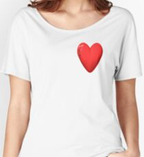 three-dimensional model of the heart valentines Women's Relaxed Fit T-Shirt