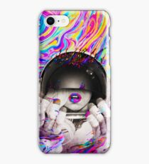 Psychedelic Astronaut (Vintage Effect) iPhone Case/Skin