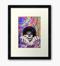 Psychedelic Astronaut (Vintage Effect) Framed Print