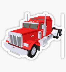 red truck Sticker