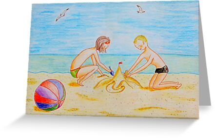 Children on the beach by Solotry