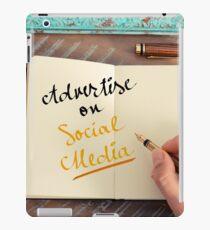 Handwritten text ADVERTISE ON SOCIAL MEDIA iPad Case/Skin
