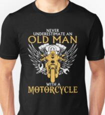 e326faaf Never Underestimate Old Man With A Motorcycle Slim Fit T-Shirt