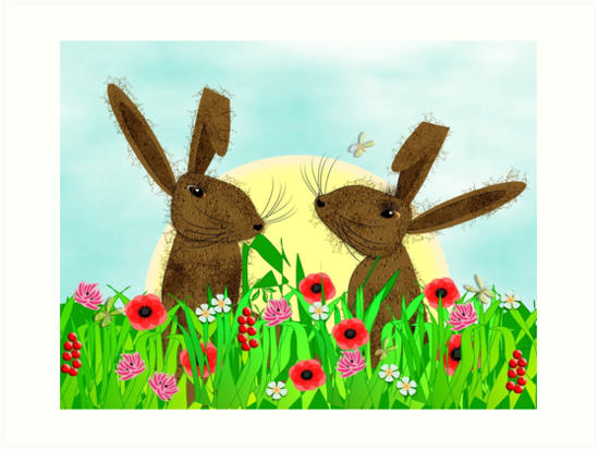 March Hare Spring Time Fun by Artification