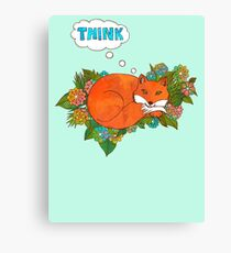 Think Outside the Fox Canvas Print