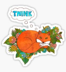 Think Outside the Fox Sticker