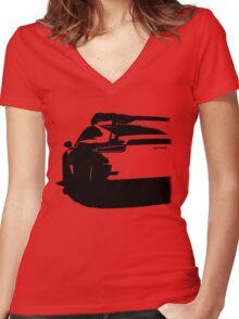 Porsche 911, GT3 RS Women's Fitted V-Neck T-Shirt